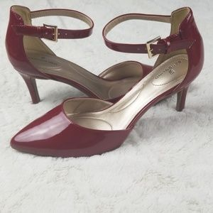 Bandolino Red Ankle Strap Heels sz 8